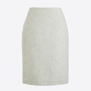 J.Crew Factory Pencil Skirt in Double-Serge Wool